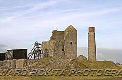 Mine workings at Magpie Mine Sheldon in Derbyshire