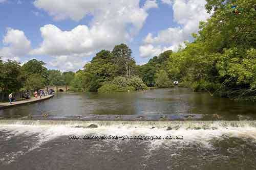 River Wye at Bakewell in the Derbyshire Peak District