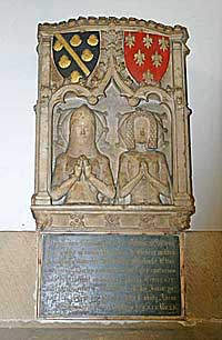 Monument to Godfrey Foljambe and wife at Bakewell church
