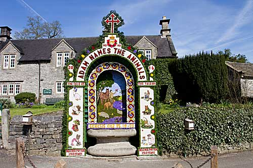 2016 Well Dressing at Tissington in Derbyshire