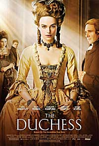 poster advertising the duchess movie