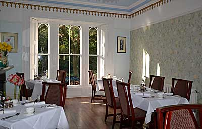 Dining Room  at Glendon Guest House,  luxury holiday accommodation at Matlock in  Derbyshire