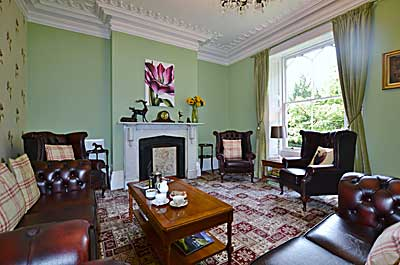 Sitting Room  at Glendon Guest House,  luxury holiday accommodation at Matlock in  Derbyshire