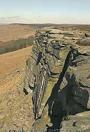 Photograph from Stanage Edge
