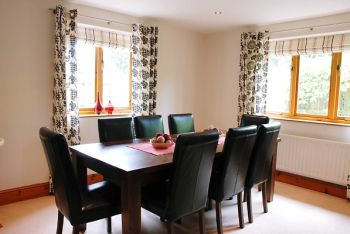 Dining area at Woodlands Cottage