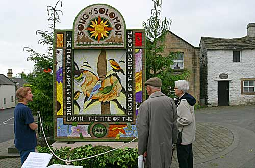 Well Dressing at Youlgrave in Derbyshire and the Peak District